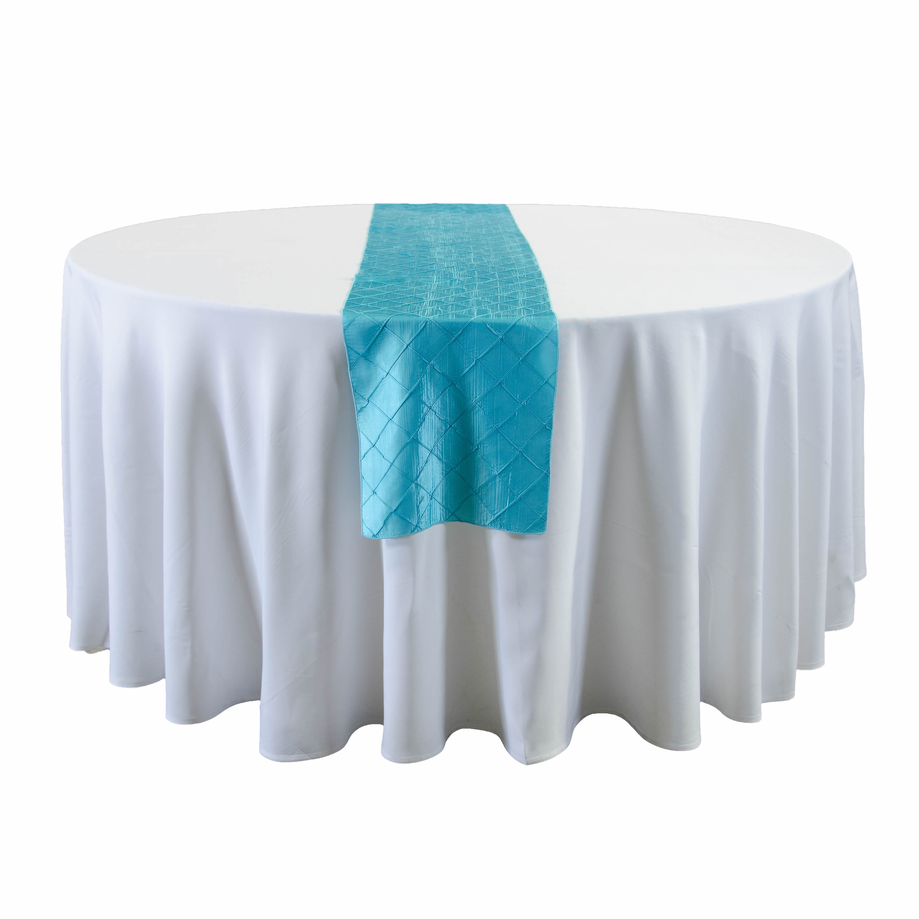 Turquoise Blue Satin Table Runners