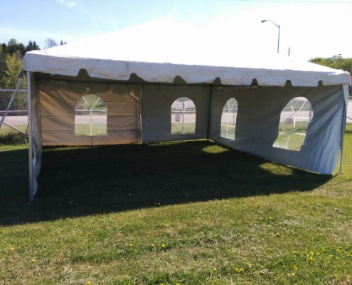 20x20 White Frame Cathedral Tent Rental