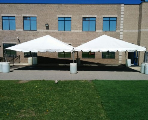 20x20 White Frame Tent Rental