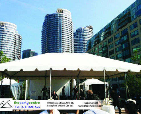 20x30 White Frame Tent Rentals
