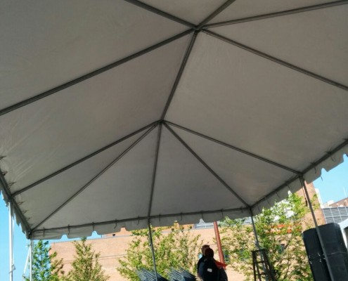 Interior of Frame Tent