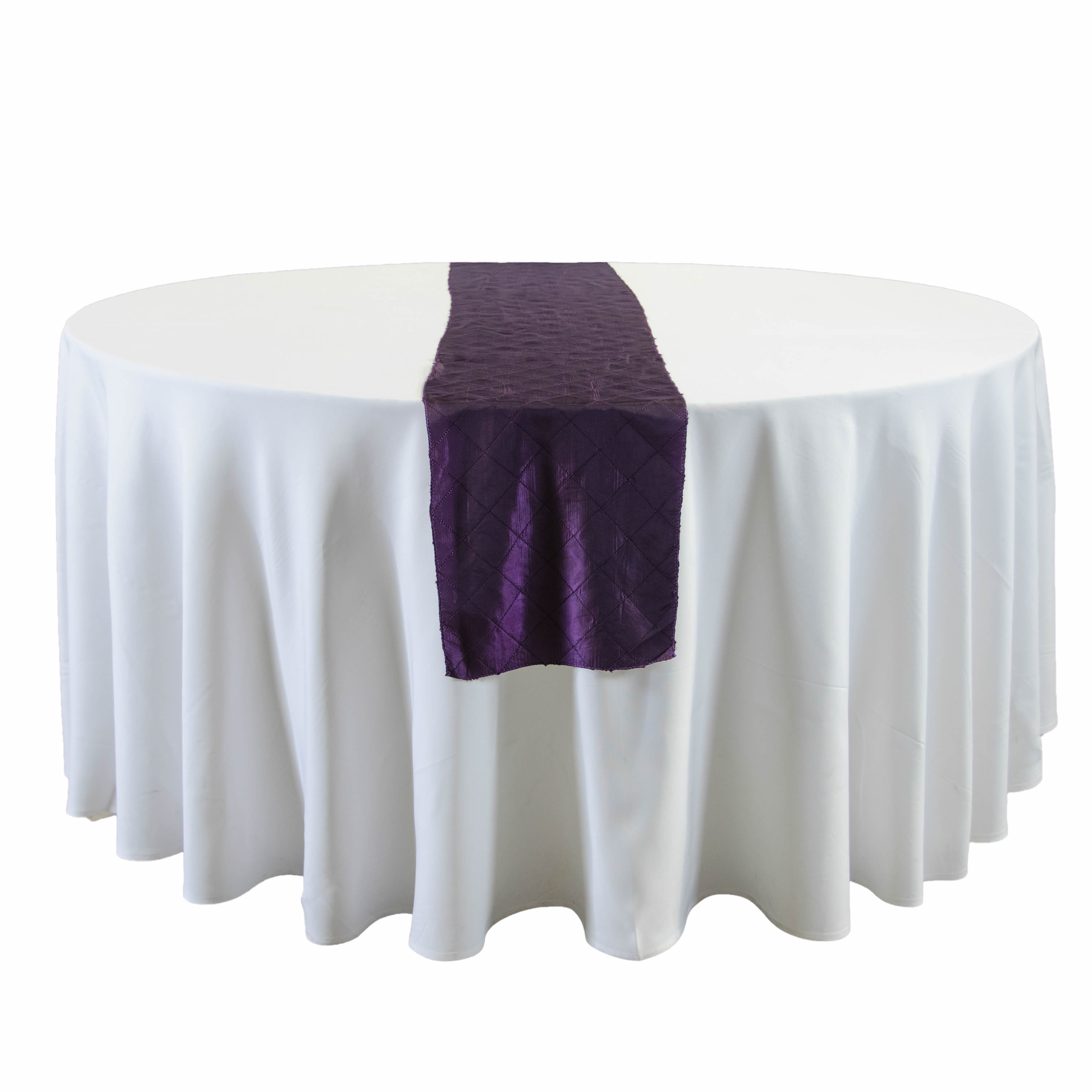 Eggplant Satin Table Runners