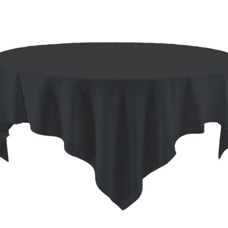 72 X 72 Inch BLACK Tablecloth