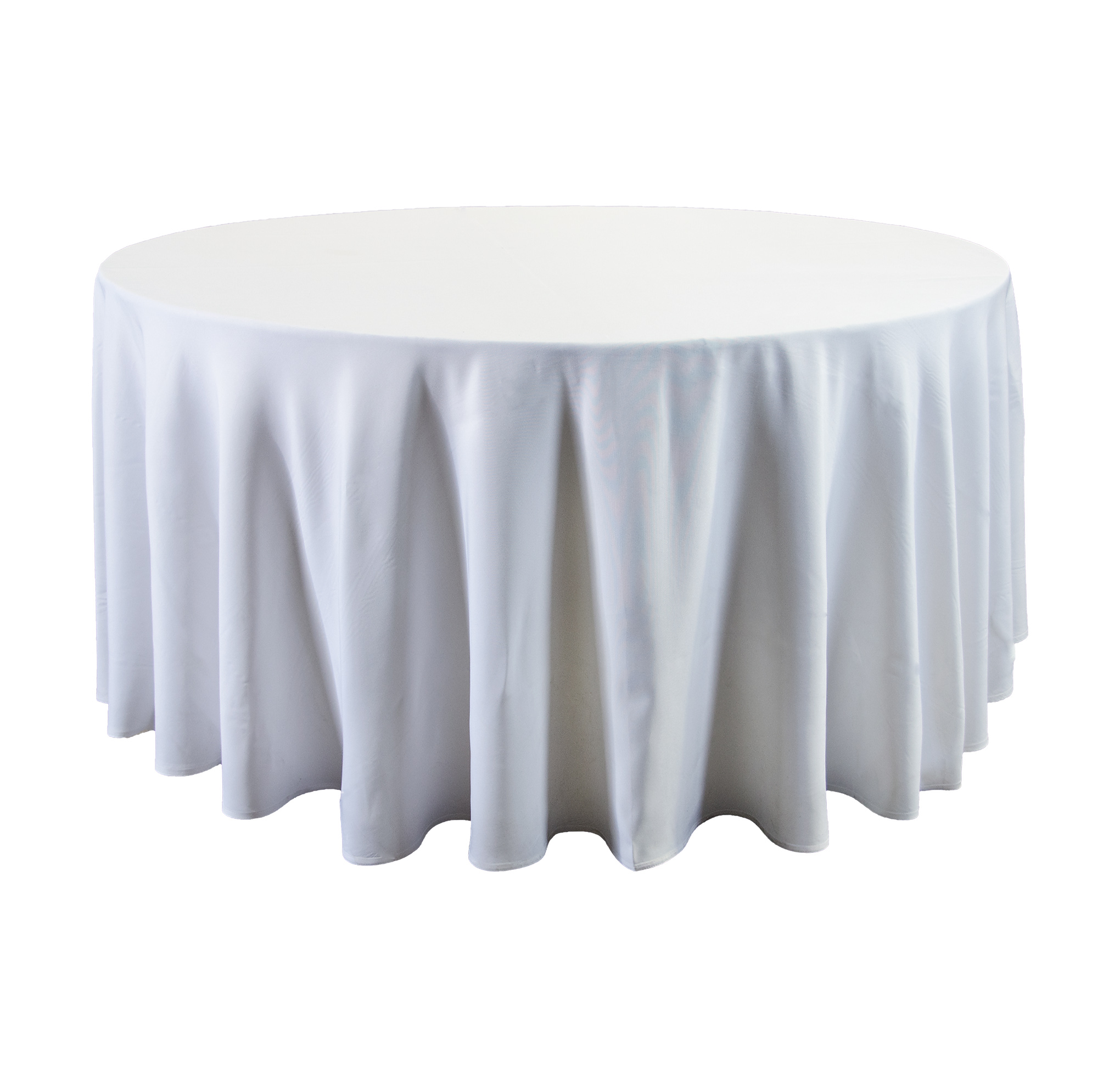Ordinaire 120u2033 Round White Tablecloth