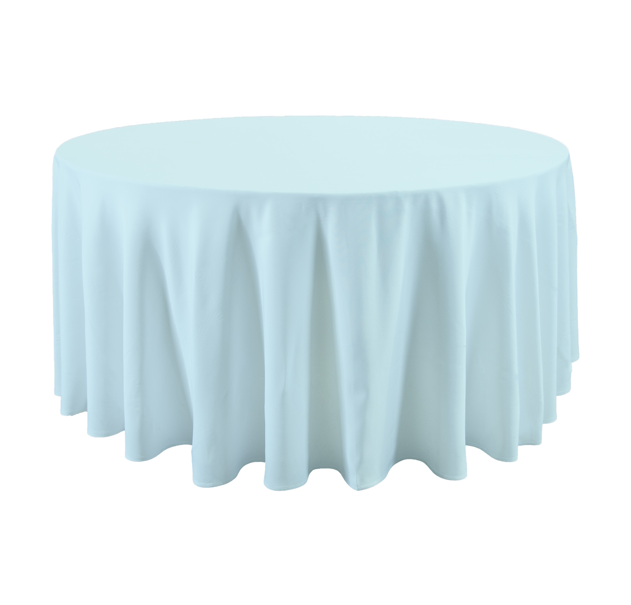 120 Round Light Blue Tablecloth