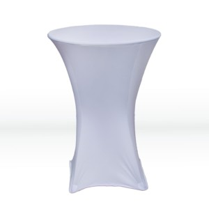 White Spandex Table Cloth