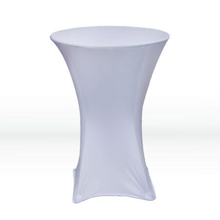 White Spandex Table Cloth
